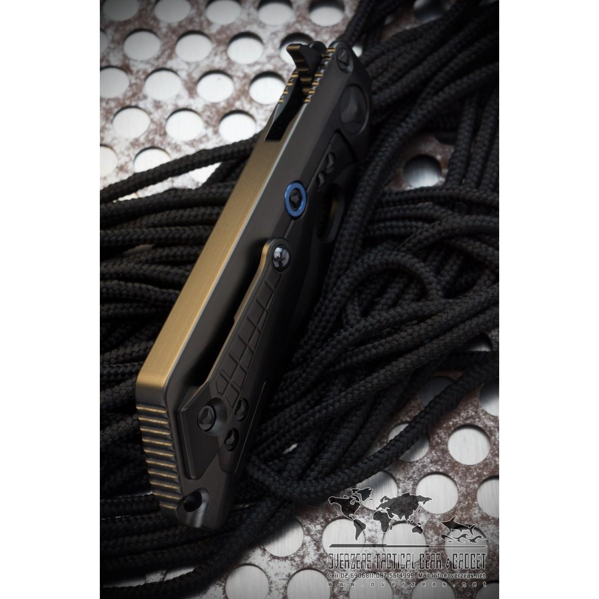 มีดพับ Microtech Custom: MSG III (Marfione/Strider) Integral Frame FRAG Pattern Apocalyptic/Vapor Blast Black DLC