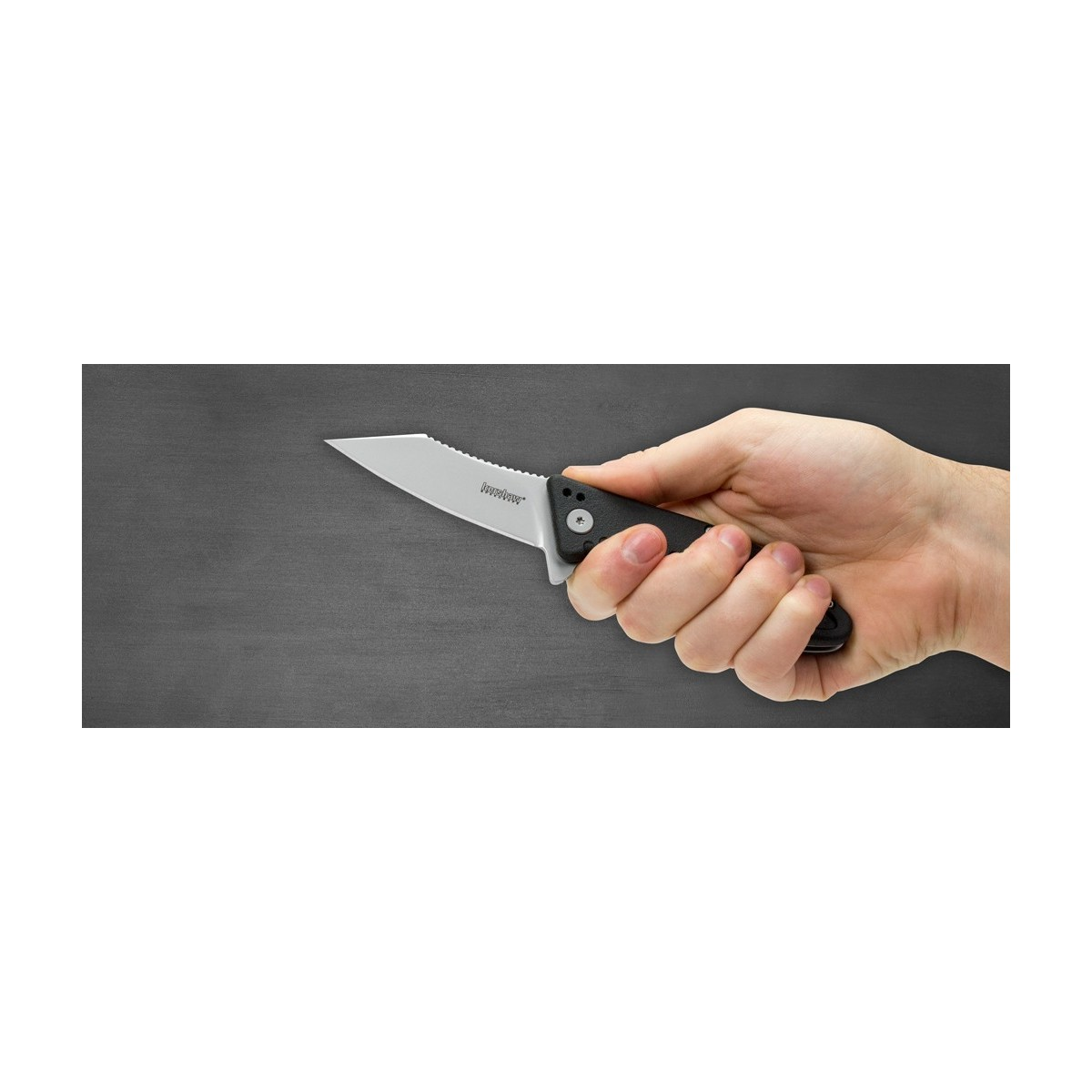"""มีดพับ Kershaw Grinder Assisted Opening Flipper Knife (3.25"""" Bead Blast),1319"""