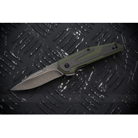 "มีดพับ Kershaw Anso Fraxion Liner Lock Knife Carbon Fiber/OD Green G-10 (2.75"" BlackWash) 1160OLBW"