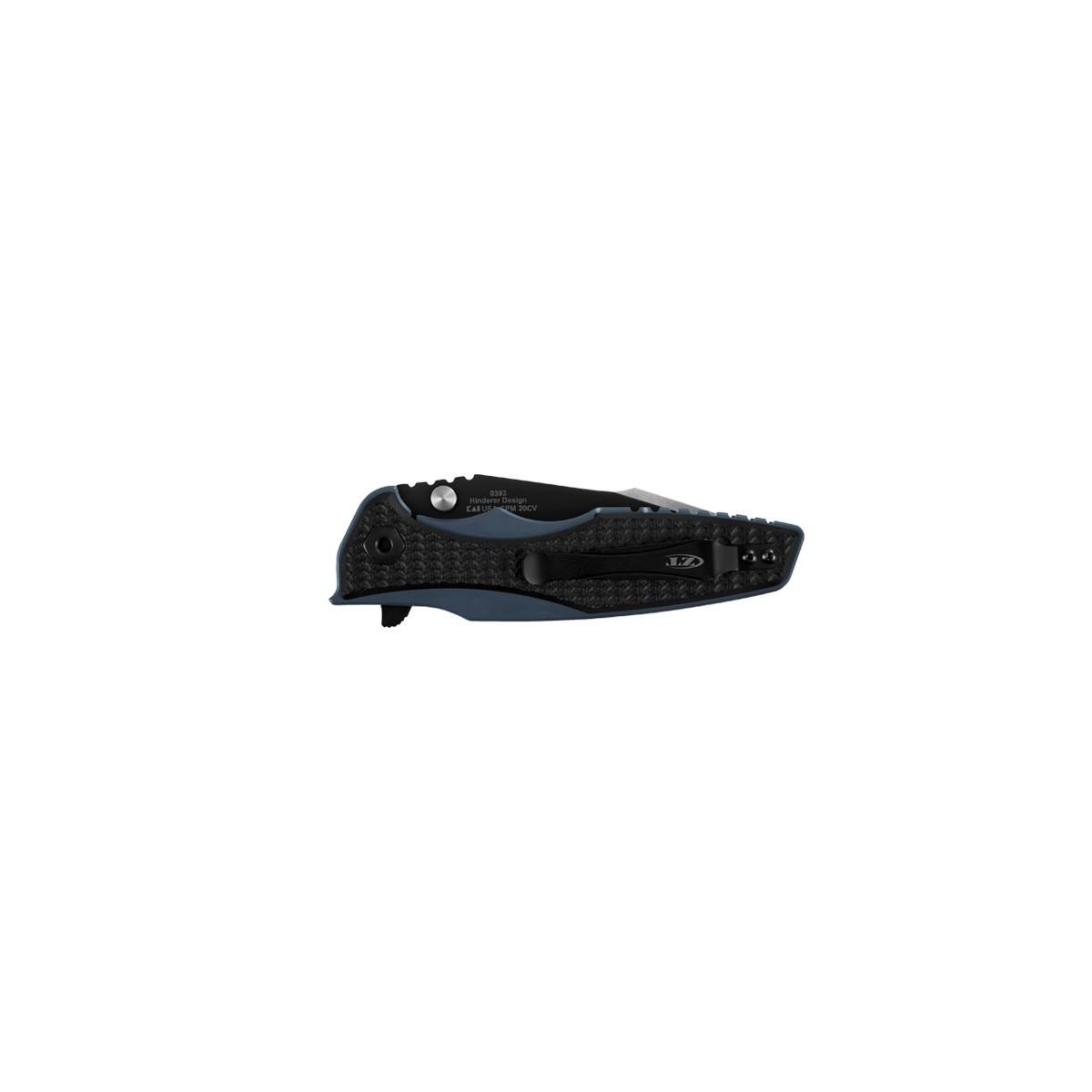 """มีดพับ Zero Tolerance Hinderer 0393 Frame Lock Knife Black G-10 (3.5"""" Two-Tone) ZT0393"""