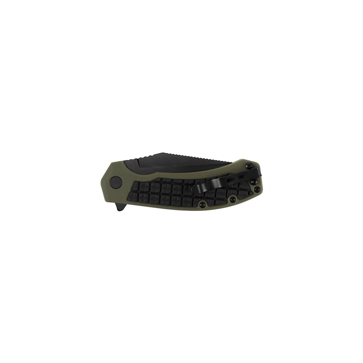 """มีดพับ Kershaw Faultline Liner Lock Knife Green/Black GFN (3"""" Black),8760"""