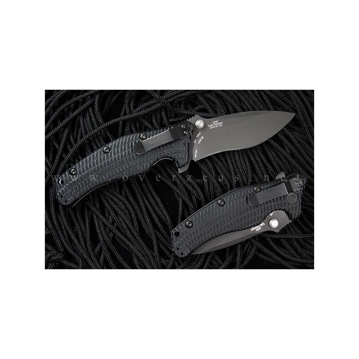"""Zero Tolerance Model 0200 Folder 4"""" Plain Blade, Black G10 Handles"""