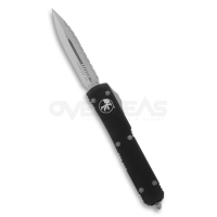 "Microtech Ultratech D/E OTF Automatic Knife CC (CTS-204P 3.4"" Full Serrated),122-6"