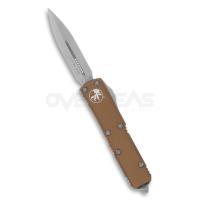 """มีดออโต้ Microtech UTX-85 D/E OTF Automatic Knife CC Tan (CTS-204P 3.125"""" Stonewash),232-10TA"""