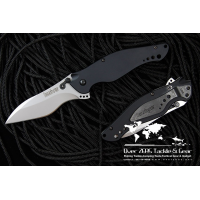 "Kershaw Speed Bump Ken Onion Black Aluminum Handle 3-5/8"" Assisted Blade"
