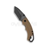 "Kershaw Shuffle II Tanto Liner Lock Knife Tan (2.25"" 8Cr13Mov BlackWash),8750TTANBW"