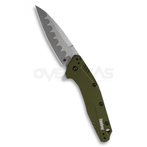 """Kershaw Dividend Assisted Opening Knife Olive (BOHLER N690/D2 3"""" Composite),1812OLCB"""
