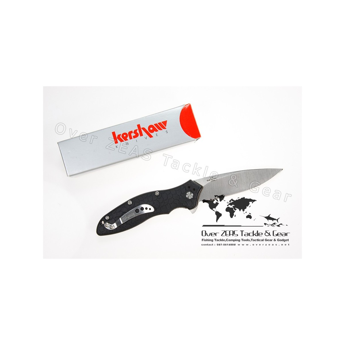 "Kershaw Knives Oso Sweet 3-1/2"" Assisted Plain Blade, Zytel Handles"