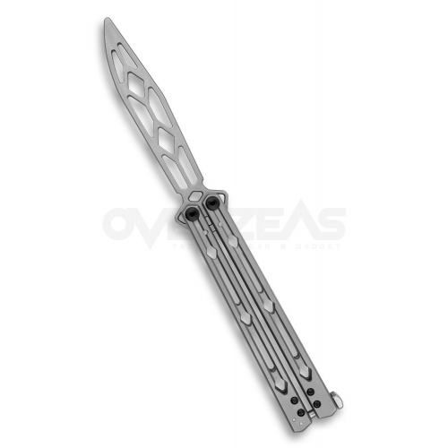 """Kershaw Lucha Balisong Trainer Butterfly Knife Stainless (14C28N 4.5"""" Stainless),5150TR"""