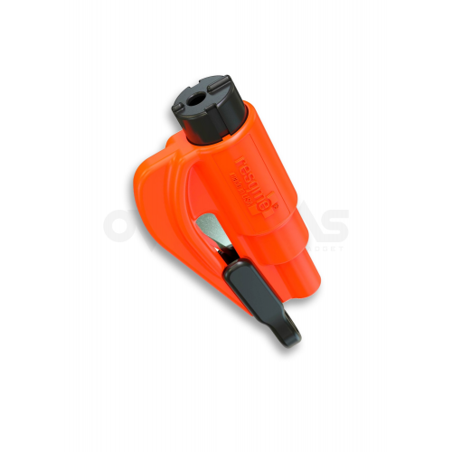 ResQme® Car Escape Tool, Seatbelt Cutter / Window Breaker Orange,(LH05)