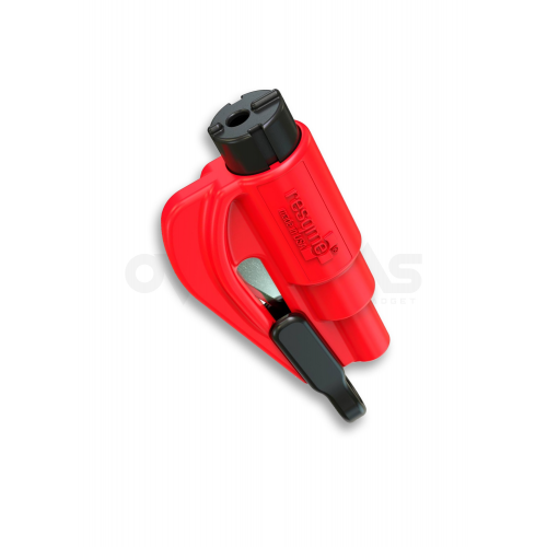ResQme® Car Escape Tool, Seatbelt Cutter / Window Breaker Red,(LH06)