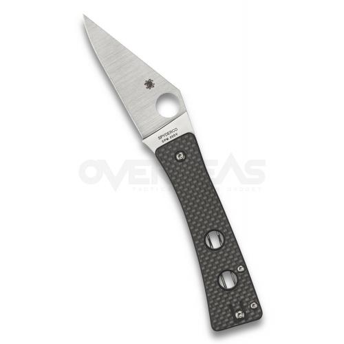 """Spyderco Watu Compression lock Knife Carbon Fiber (CPM-20CV 3.25""""Satin),C251CFP"""