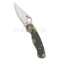 "Spyderco Paramilitary 2 Compression Lock Knife CAMO G-10 (S45VN 3.4"" Satin),C81GPCMO"
