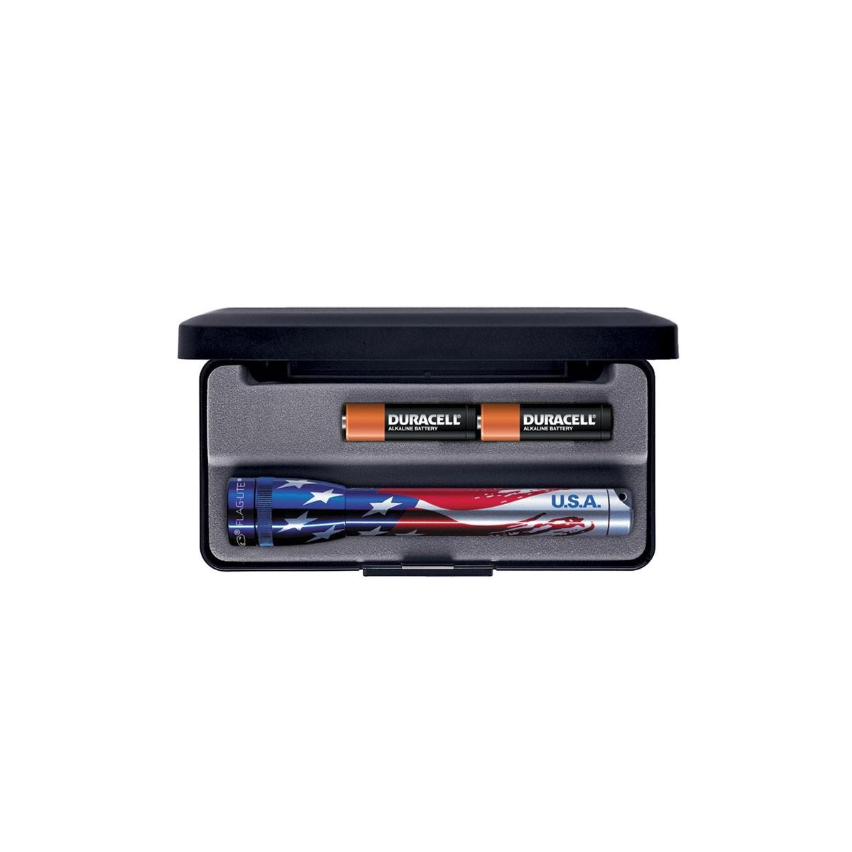 ไฟฉาย Maglite Minimag AA Flashlight - USA Flag Limited -