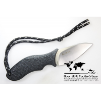 "มีด Columbia River Ken Onion Skinner Fixed 3.75"" Bohler K110 Tool Steel Satin Blade, Leather Sheath"